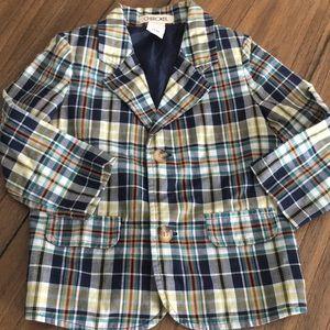 Toddler boy suit- plaid